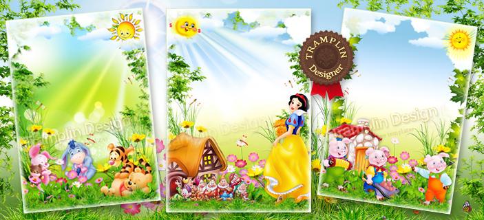 Детские рамки декорации для детского фото