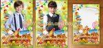 Школьный коллаж Цветным листом сентябрь глядит