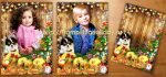 Новогодний коллаж с Прекрасным маленьким щенком