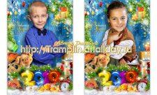 Детский новогодний портрет Год 2019 со свинкой