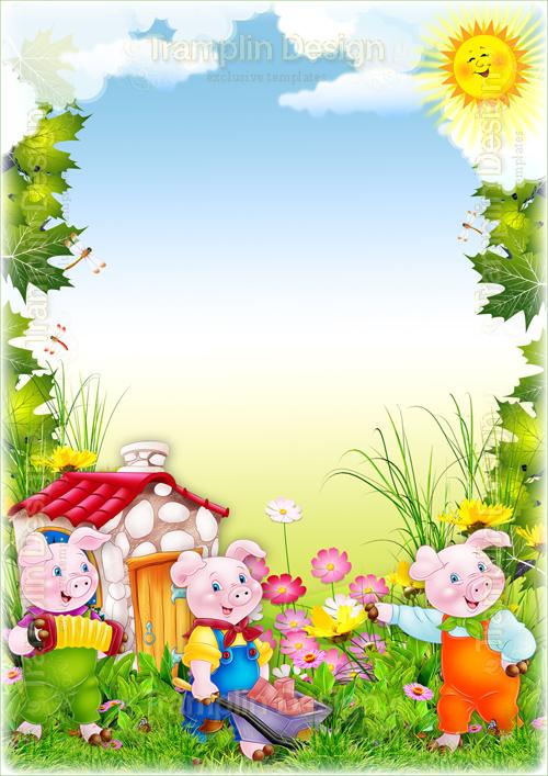 Детские рамки-декорации для детского фото