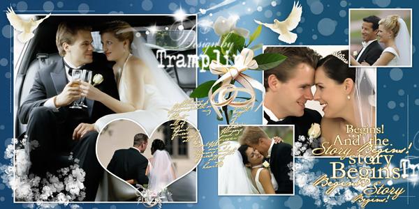 Свадебная фото книга - Голубое небо
