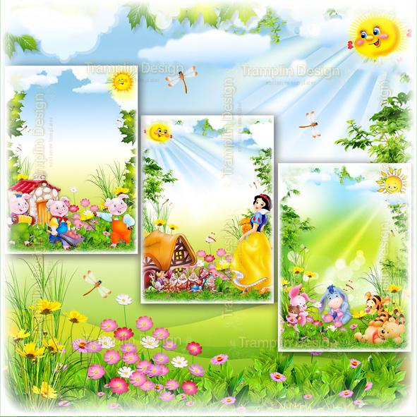 Сборник Детские рамки для детского фото — Герои Мультфильмов и Сказок