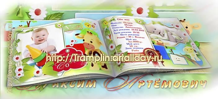 Альбом - Первый годик жизни с героями мультфильма Тини Лав